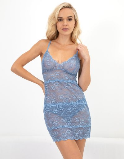 all lace classic full slip in oxford blue